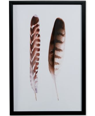 Graham & Brown Framed Canvas Feather Duo Wall Art