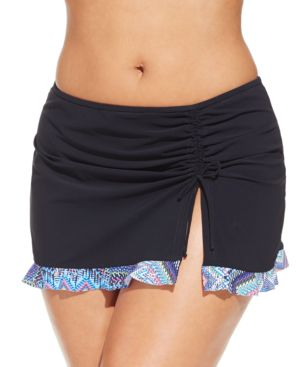 Profile by Gottex Plus Size Printed-Hem Swim Skirt Women's Swimsuit
