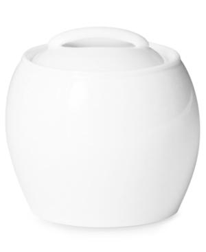 Denby Dinnerware, White Covered Sugar Bowl