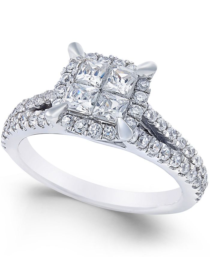 Macy's - Square Diamond Engagement Ring (1 ct. t.w.)