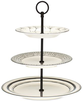 Lenox Serveware Around The Table Collection Stoneware Three-Tiered Server