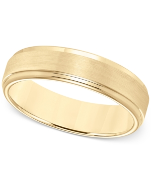 Comfort-Fit 6mm Wedding Band in Yellow Tungsten Carbide