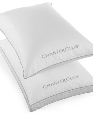 Charter Club Custom Comfort Gusseted Extra Firm Density Standard Pillow, Only at Macy's