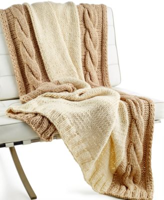CLOSEOUT! Hotel Collection Chunky Knit Throw, Only at Macy's