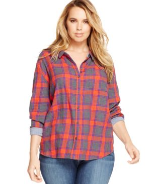 Lucky Brand Plus Size Plaid Shirt