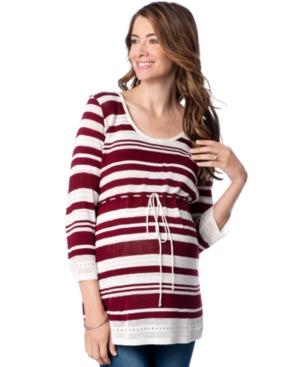 Motherhood Maternity Striped Babydoll Sweater plus size,  plus size fashion plus size appare