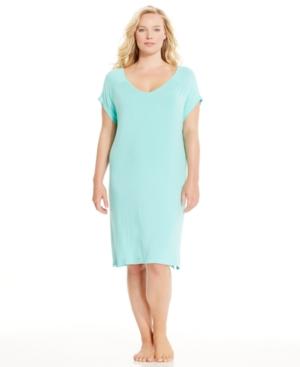 Nautica Plus Size Viscose Short Sleeve Sleepshirt