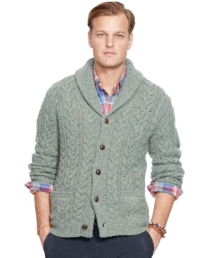 Polo Ralph Lauren Cable-Knit Wool-Cashmere Cardigan Sweater $254.99 AT vintagedancer.com