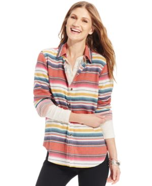 American Living Striped Button-Front Shirt, Only at Macy's