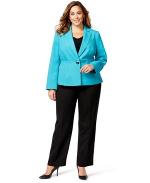 Le Suit Plus Size Colorblocked Pantsuit
