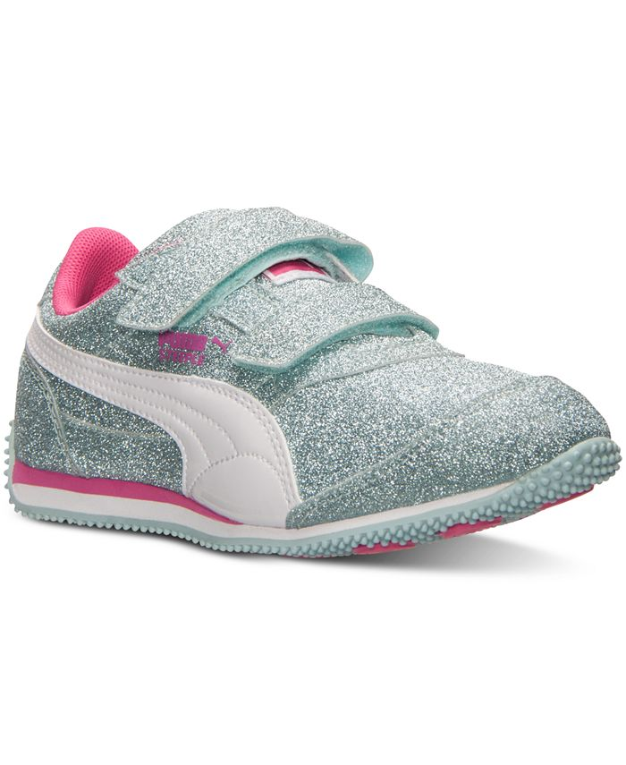 Puma - Little Girls' Steeple Glitz AOG V Casual Sneakers from Finish Line