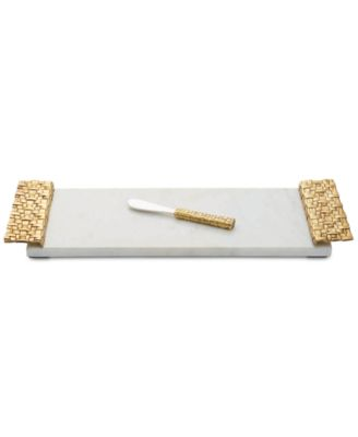 Michael Aram Granite 2-Pc. Palm Cheeseboard & Spreader Set