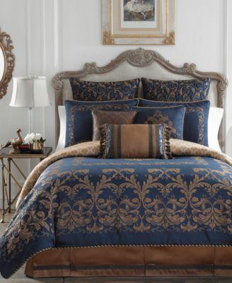 Croscill Monroe Blue Queen Comforter Set