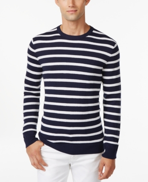 Club Room Texture Stripe Crew-Neck Sweater Only at Macys $54.99 AT vintagedancer.com
