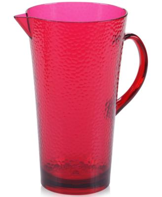 Certified International Acrylic Ruby-Tone Pitcher