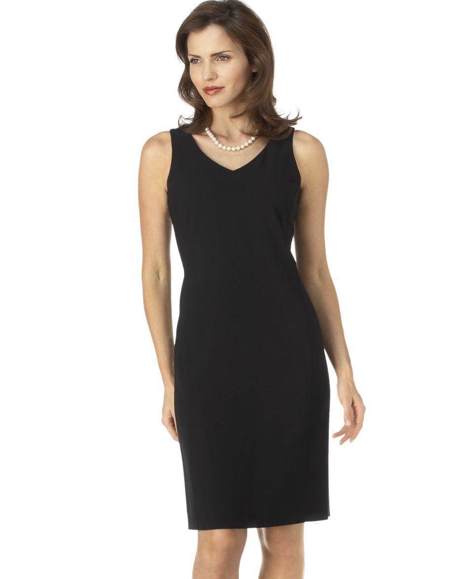 Kasper Petite Dress, Sleeveless Scoop Neck Sheath   Womens Petite