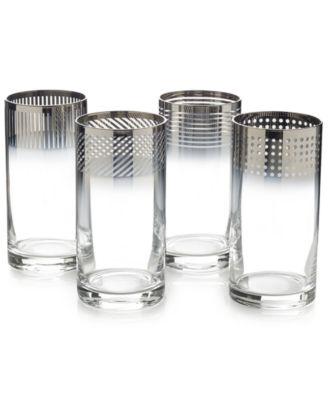 Mikasa Cheers Collection Metallic Ombr® Highball Glasses, Set Of 4