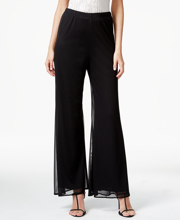 MSK - Mesh Wide-Leg Dress Pants