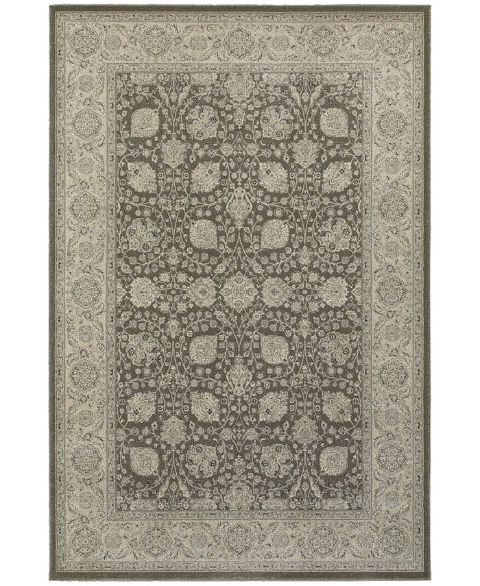 "JHB Design - Tidewater  Tabriz Brown/Ivory 1'10"" x 3' Area Rug"