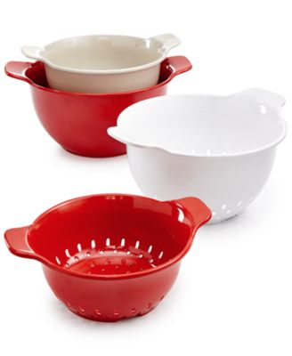 Martha Stewart Collection 4-Pc. Melamine Bowl/Colander Set, Only at Macy's