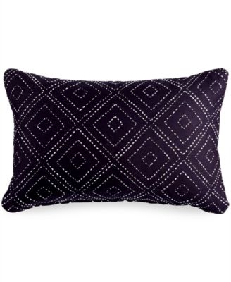 Gifts That Give Hope Kantha Chevron Navy Pillow