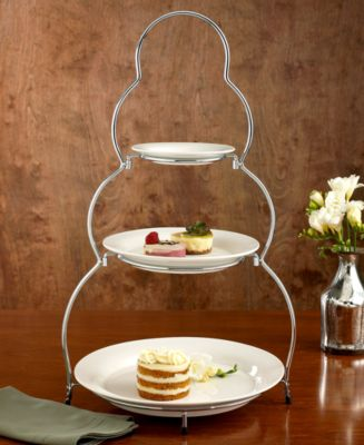 """CLOSEOUT! Godinger """"Siena"""" 3-Tier Server with Plates"""