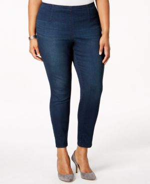 Jessica Simpson Plus Size Cropped Skinny Jeggings