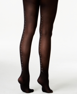 Pretty Polly Embellished Crystal Backseam Tights $17.20 AT vintagedancer.com