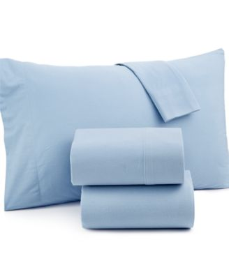 Microflannel Solid Queen Sheet Set