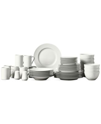 Tabletops Unlimited Soleil 50-Pc. Ash White Set, Service for 8