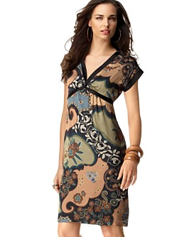 ECI Printed Kimono-Sleeve Dress from macys.com