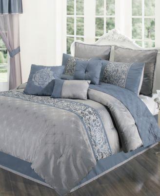 CLOSEOUT! Rosamund 22-Piece Queen Comforter Set