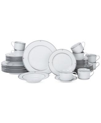 Mikasa Porcelain 40-Pc. Regent Bead Dinnerware Set, Service for 8