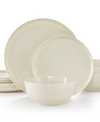 Hotel Collection Modern Bisque Porcelain 12-Pc. Dinnerware set, Service for 4, only at Macy®s