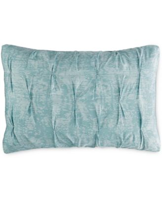 Bar III Diamond Pleat Mineral Blue King Sham, Only at Macy's