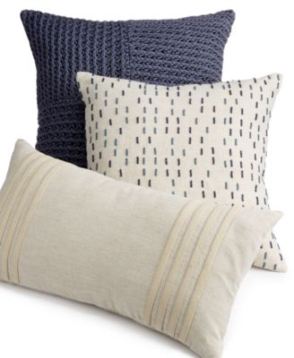 "Hotel Collection Linen Stripe 18"" Square Decorative Pillow, Only at Macy's"