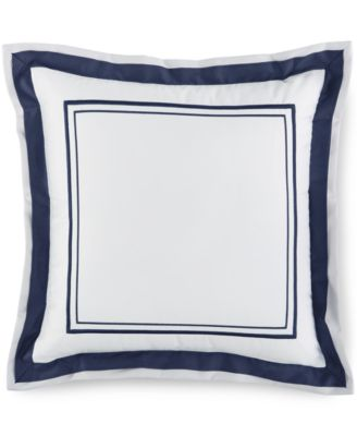 "Hotel Collection Embroidered Frame 16"" Square Decorative Pillow, Only at Macy's"
