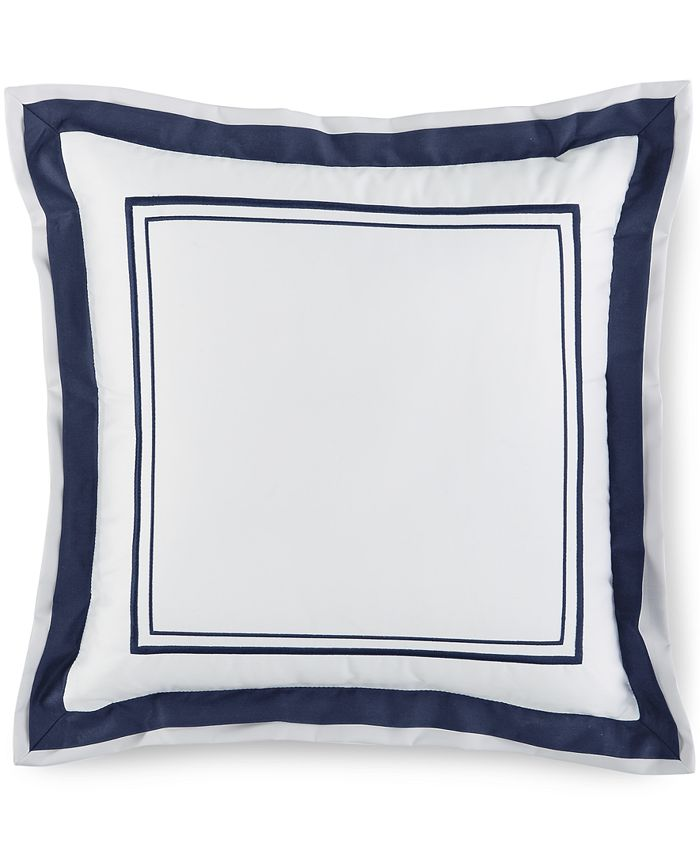 """Hotel Collection - Embroidered Frame 16"""" Square Decorative Pillow"""