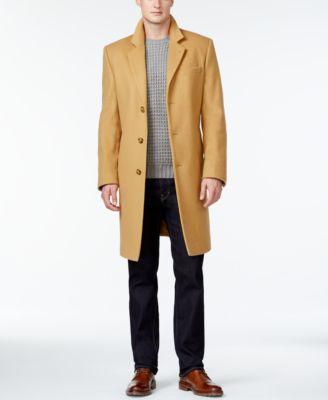 Michael Kors Mens Madison Cashmere-Blend Overcoat