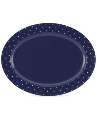 kate spade new york Larabee Dot Navy Collection Stoneware Serving Platter