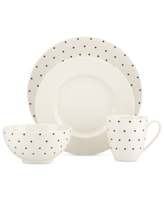 kate spade new york Larabee Dot Cream Collection Stoneware 4-Pc. Place Setting