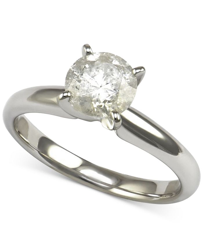 Macy's - Diamond Solitaire Engagement Ring (1-1/4 ct. t.w.) in 14k White Gold