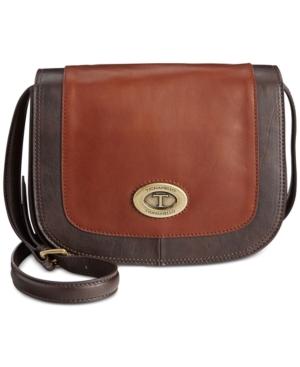 Tignanello Vintage Leather Status Saddle Bag