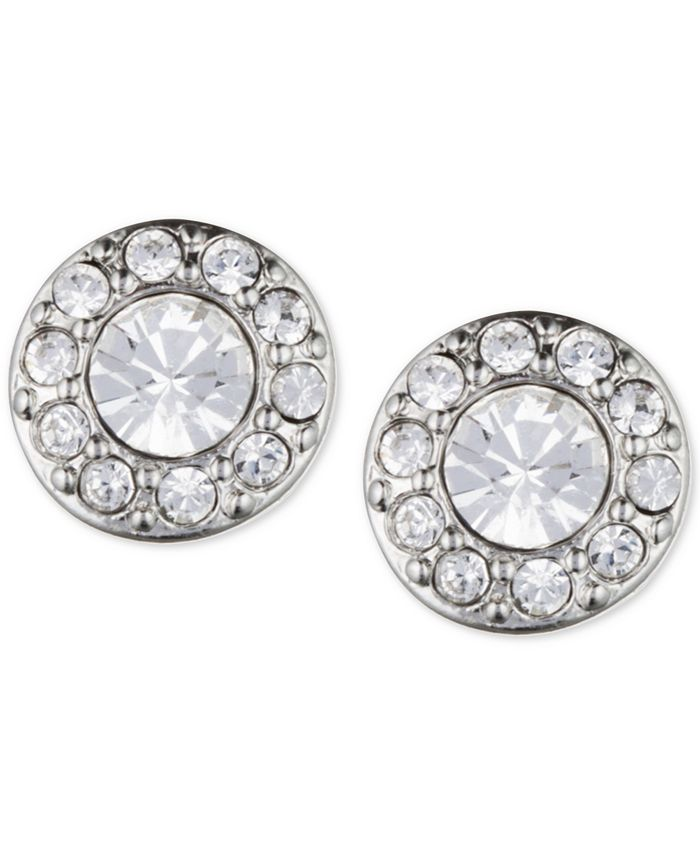 Givenchy - Silver-Tone Small Crystal Pavé Stud Earrings