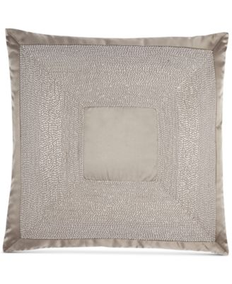 "Hotel Collection Keystone 18"" Square Decorative Pillow, Only at Macy's"