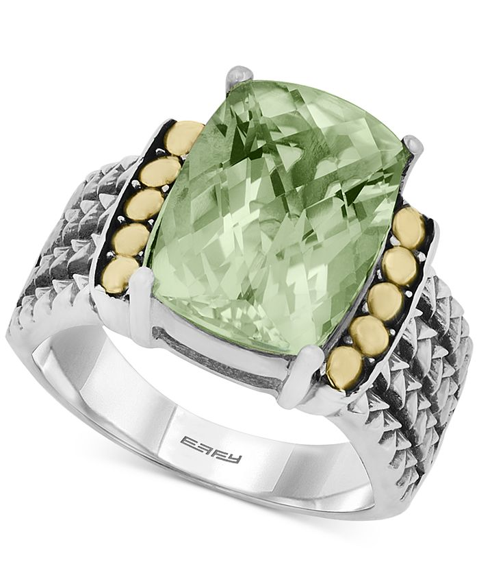 EFFY Collection - Prasiolite (5-3/4 ct. t.w.) Ring in 18k Gold and Sterling Silver