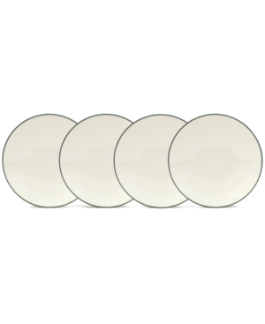 "Noritake ""Colorwave Graphite"" Set of 4 Mini Plates, 6.25"