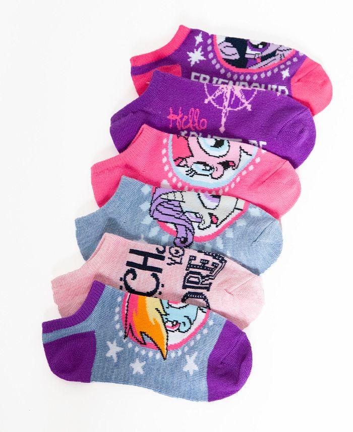 My Little Pony - Little Girls' 6-Pack No-Show Ankle Socks