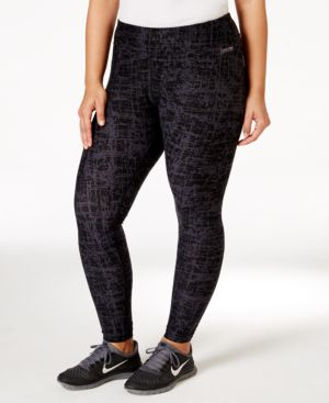 Calvin Klein Performance Plus Size Printed Active Leggings