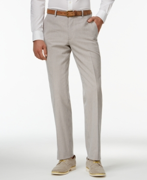 Edwardian Men's Pants Bar Iii Blue Vintage Seersucker Slim-Fit Pants Only at Macys $42.99 AT vintagedancer.com